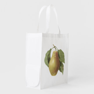 pear(Pyrus sp.) by Redouté Grocery Bag