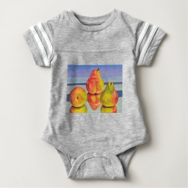Beach Themed Pear Reflection Baby Bodysuit