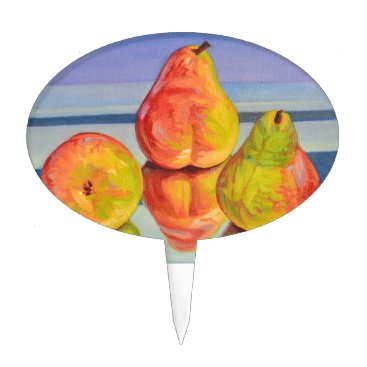 Beach Themed Pear Reflection Cake Topper