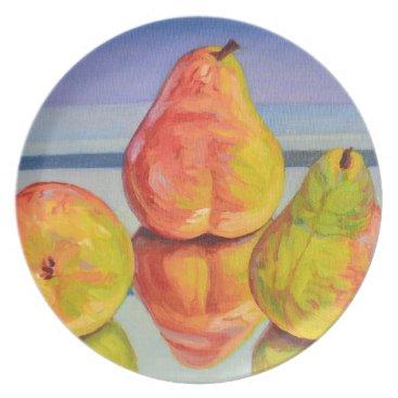 Beach Themed Pear Reflection Dinner Plate