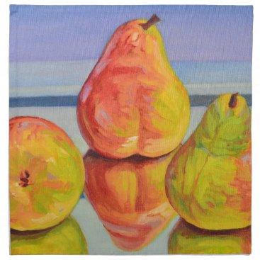 Beach Themed Pear Reflection Napkin