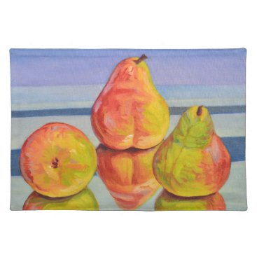 Beach Themed Pear Reflection Placemat