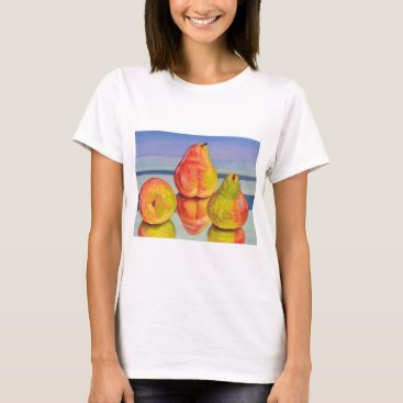 Beach Themed Pear Reflection T-Shirt