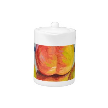 Beach Themed Pear Reflection Teapot