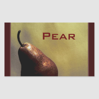 Pear, Still Life, Photography, color, template Rectangular Sticker