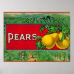 Pear Stock Crate Label Print