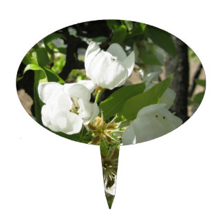 Pear tree branches with blossoms cake topper