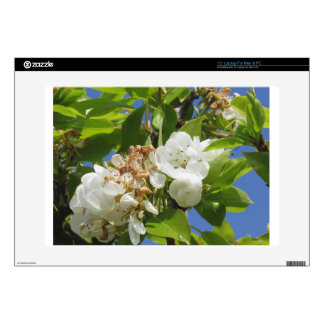 """Pear tree branches with blossoms skin for 15"""" laptop"""