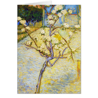 Pear Tree in Blossom Vincent van Gogh fine art Card