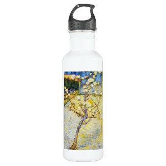 Pear Tree in Blossom Vincent van Gogh fine art Water Bottle