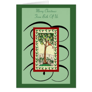 Pear Tree Merry Christmas From Both Of Us Card