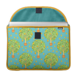 "Pear Tree Pattern Pears teal 15"" MacBook sleeve"
