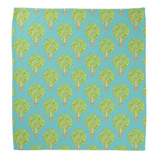 Pear Tree Pattern teal Bandana