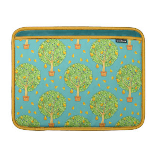 "Pear Tree Pattern teal Pears Macbook Air 13"" MacBook Sleeve"