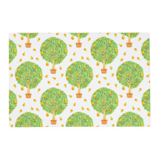Pear Tree Pears Pattern Gloss Placemats
