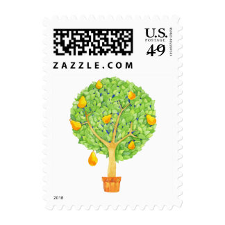 Pear Tree Postage Stamp - Small