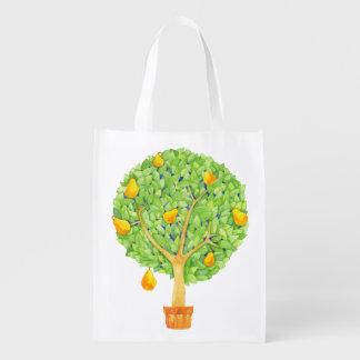 Pear tree Reusable Bag Reusable Grocery Bags