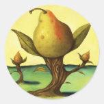 Pear Tree Round Sticker