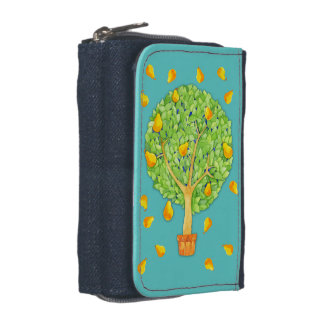 Pear Tree teal Denim Wallet with Coin Purse