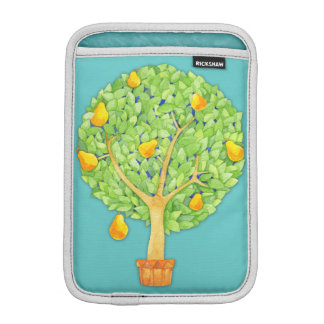 Pear Tree teal iPad Mini Vertical Sleeve For iPad Mini