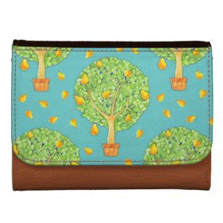 Pear Tree teal Medium Faux Leather Wallet