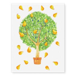 Pear TreeTemporary Tattoos