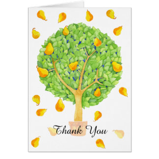 Pear Tree Thank You 2 Card