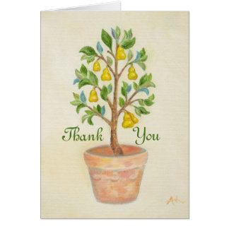 Pear Tree thank you card