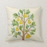 Pear Tree throw pillow