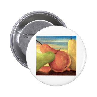Pear Tropical Fruits Painting - Multi Pinback Button
