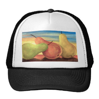 Pear Tropical Fruits Painting - Multi Trucker Hats