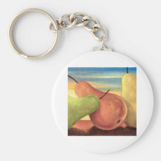 Pear Tropical Fruits Painting - Multi Key Chain
