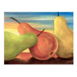 Pear Tropical Fruits Painting - Multi Postcard