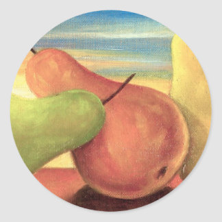 Pear Tropical Fruits Painting - Multi Sticker