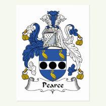 Pearce Family Crest Postcard