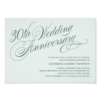 Pearl 30th Wedding Anniversary Invitations