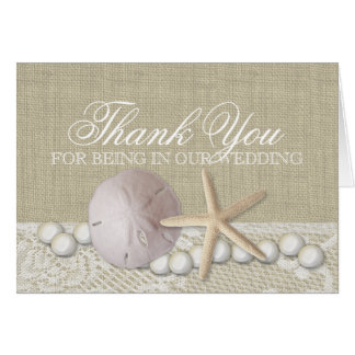 Pearl and Lace Beach Thank You Card