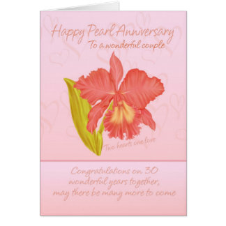 Pearl Anniversary Card - 30th Anniversary Card