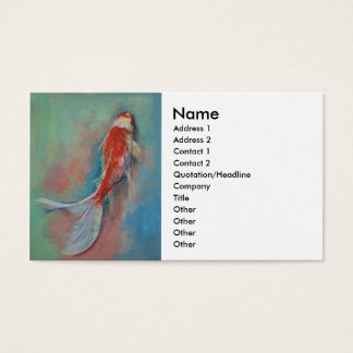 Pearl Banded Koi Business Card