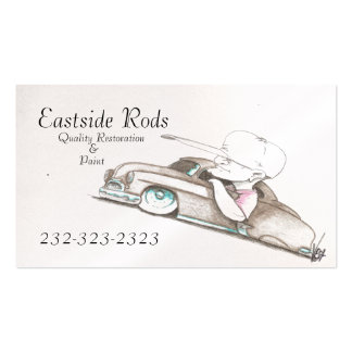 Pearl Card Stock Auto Business Cards