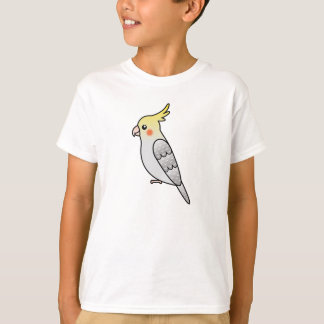 Pearl Cartoon Cockatiel Parrot Bird T-Shirt