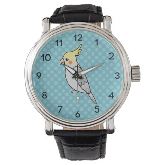 Pearl Cartoon Cockatiel Parrot Bird Wrist Watch