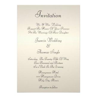Pearl Cream Invitation