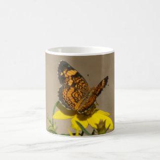 Pearl Crescent Butterfly Mug. Coffee Mug