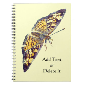 Pearl Crescent Butterfly notebook