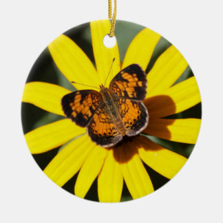 Pearl Crescent Ceramic Ornament