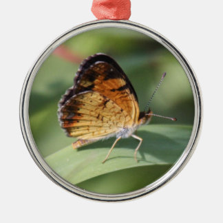 Pearl Crescent Metal Ornament