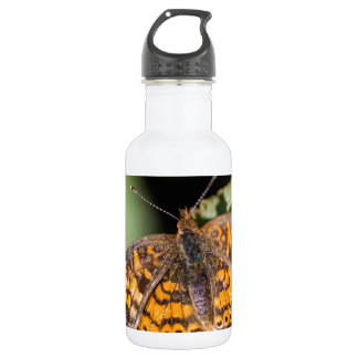 Pearl Cresent Butterfly- Phyciodes tharos 18oz Water Bottle