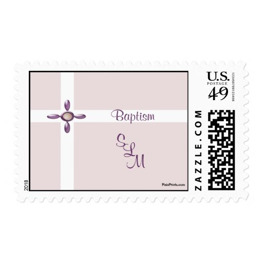 Pearl Cross Postage Stamp
