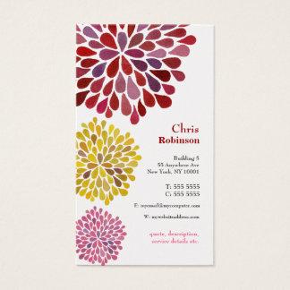 Pearl Dahlia Blossom Burst Floral Business Card